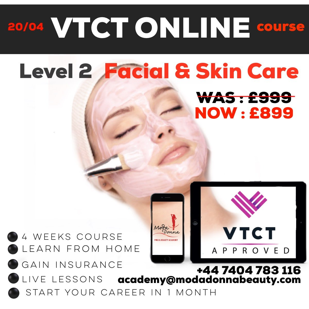 vtct level 2 facial & skin care