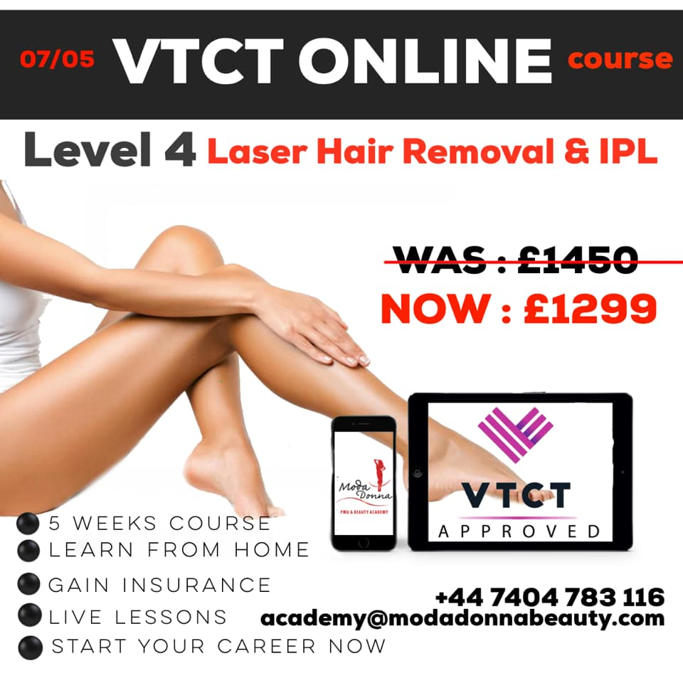 Vtct Online Level 4 Laser Hair Removal & Ipl Course